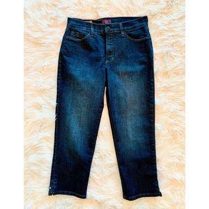 NYDJ Karen Capri Dark Wash Crop Jeans